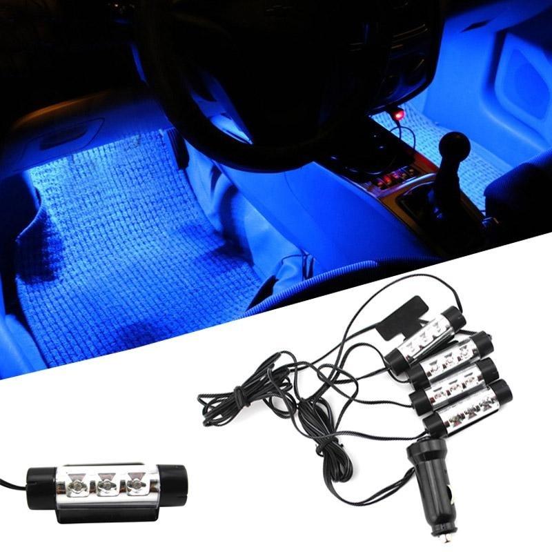 Shock Price PALIGHT Mobil Api Suasana Interior Lampu Dekoratif Kaki Lampu 12 V 4x3 LED Cahaya
