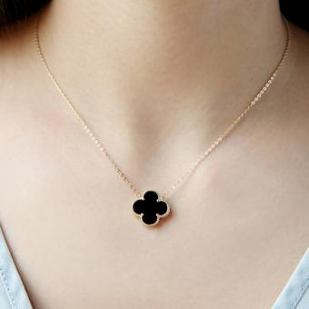 925 perak murni Kalung perempuan kalung klavikula perempuan Fortun Leave Liontin Jepang Korea modis ornamen Fortun