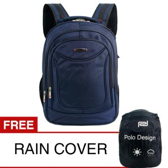 Polo Design JC 203-09 Backpack + Rain Cover - Navy