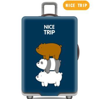 Premium Sarung Koper Elastis Luggage Cover Pelindung Koper Cover Koper Panda Beruang Size L