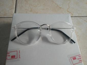 Promo kacamata murah kacamata bulat oval kaca bening trendy gaya korea xw409 141efe1f62