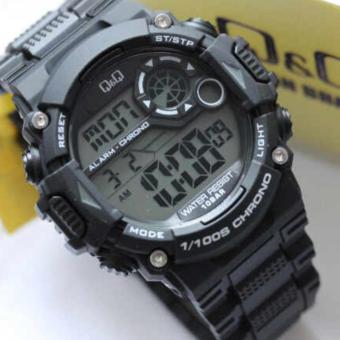 Q&Q Jam Tangan Pria - Hitam - Strap Rubber - M146J003Y
