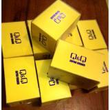 QQ Sport Water Resist Jam Tangan Wanita Rubber Strap Blue Design Trendy Transparan - 4