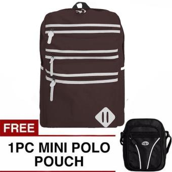 Ransel Oxford Backpack + FREE Mini PoloClub Pouch Selempang
