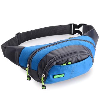 Tahan Tas Pinggang Tas For Pria Wanita Wisata Olahraga Lari Lintas Alam (biru)-