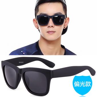 Kacamata Hitam Baru Kacamata Pelindung Sinar Retro Hitam Bentuk Persegi
