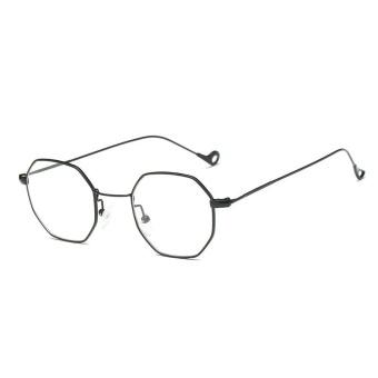 Retro Kecil Square Oktagonal Sunglasses Laki-laki dan Perempuan Ocean Irisan Transparan Sunglasses-Kotak