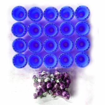 Ring Monel Sharrky Isi 20Pcs Bahan Plastik + Mur Baut - Variasi Motor - Biru