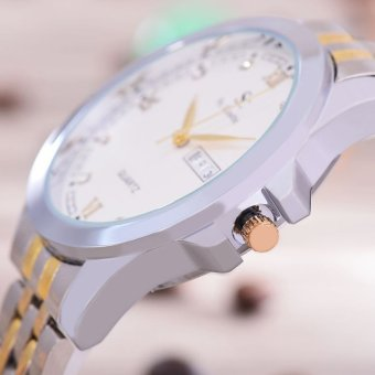 Hot Deals Saint Costie Original Brand - Jam Tangan Pria - Body Silver Gold - White
