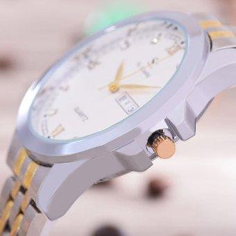 Hot Deals Saint Costie Original Brand - Jam Tangan Pria - Body Silver Gold - White