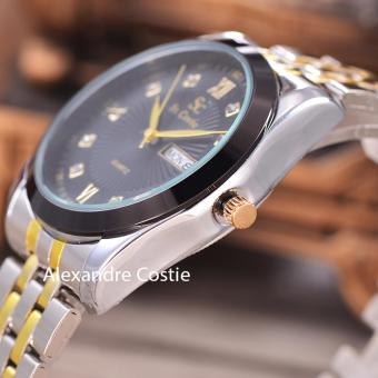 Saint Costie - Jam Tangan Pria - Stainless Steel Band - Body Silver/gold .