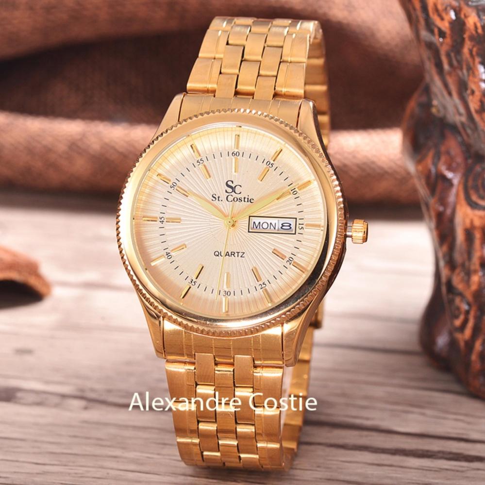 """Bandingkan Toko """"Saint Costie Original Brand, Jam Tangan Pria - Body Gold - Gold"""