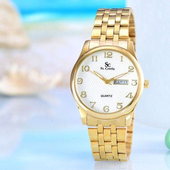 Saint Costie Original Brand - Jam Tangan Wanita - Body Gold - White Dial - Stainless