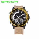 SANDA Fashion Pria Olahraga Watches Brand QUARTZ Militer Tahan Air Digital Watch Jam Tangan Pria-Intl - 3