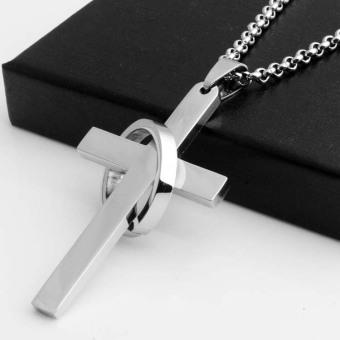 Kalung Pria Liontin Salib dengan