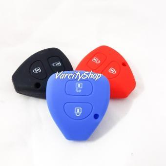 Silicon Cover Silikon Kondom Sarung remote kunci key Toyota 2 tombol MERAH