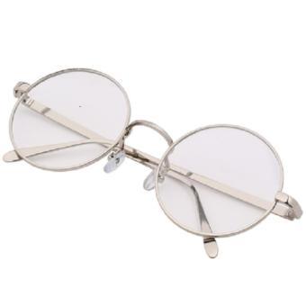 Timely - Silver Frame Retro Round Sunglasses 8890 SIL - Kacamata Pria dan  wanita - Bulat 139e92563f