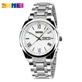 SKMEI 9056 Pria Jam Tangan Bisnis Tanggal Anti Karat Bercahaya Jam Arloji  Putih-Internasional 533f28a7f6