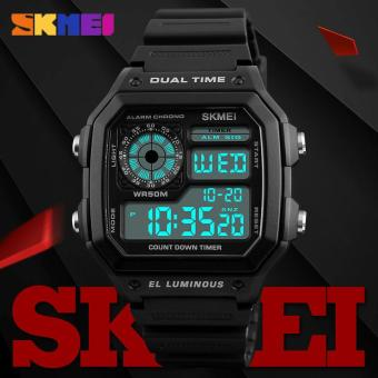 SKMEI Fashion Outdoor Sport Men Watch Alarm Tanggal LED Display Tahan Air Watches Count Down Chronograph