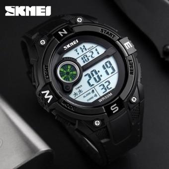 SKMEI Merek Pria Fashion Sports Jam Tangan LED Digital Countdown Tahan Air Jam Tangan Militer Clock