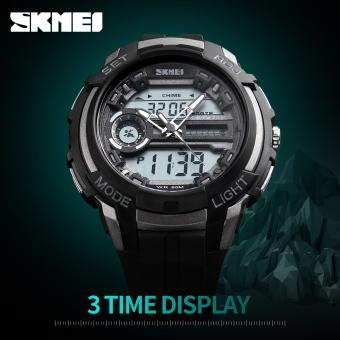 SKMEI Merek Watch Pria Olahraga Watches Dual Layar Analog Digital LED Elektronik QUARTZ 50 M