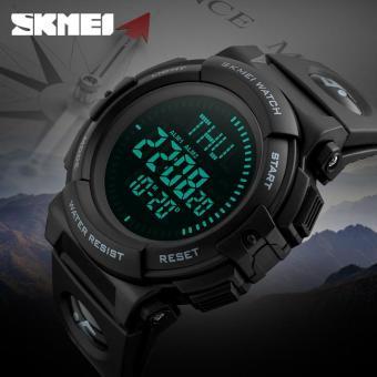 SKMEI Ready Stock Militer Outdoor Sport Watch Pria Top Brand Luxury Kompas Elektronik LED Digital Jam