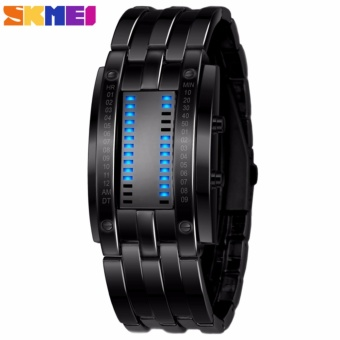 SKMEI Storm MK2 Hitam - Jam Tangan Pria - Rantai Stainless Steel - 0926 Fashion Black + Free Box Jam Tangan Flash