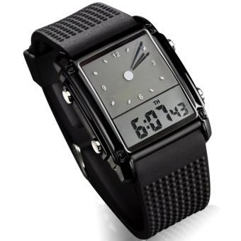 SKMEI Trendy Men Sport LED Dual Time Watch Water Resistant Air WR50m 0814G Jam Tangan Pria