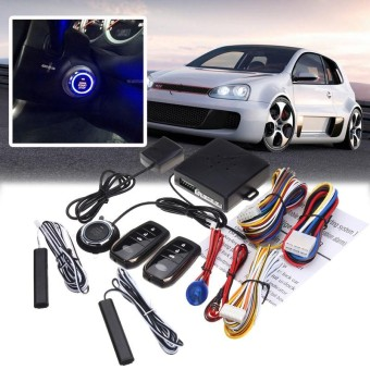 Smart Car Security Keyless Entry Push Start Alarm Sistem Remote Starter Tombol-Internasional