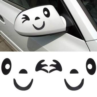 Wajah Senyum Desain 3D Stiker Dekorasi untuk Mobil Sisi Cermin Kaca BK-Intl