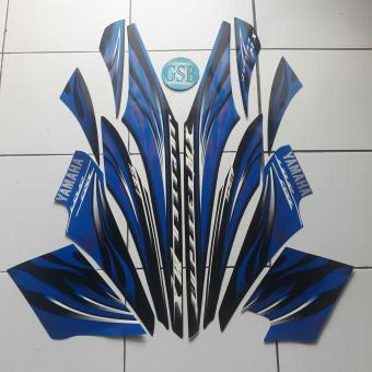 Stiker Striping Motor Yamaha Jupiter mx 2009 biru