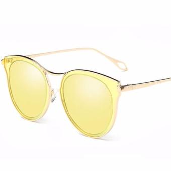 Musim Panas Wanita Round Sunglasses Ladies Metal Vintage Eyewear Merek Desainer Fashion Wanita Kacamata Terpolarisasi untuk