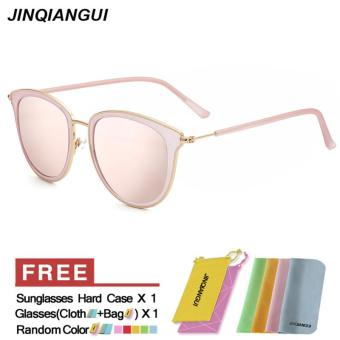 Sunglasses Women Cat Eye Retro Pink Color Polaroid Lens Titanium Frame Driver Sunglasses Brand Design Original