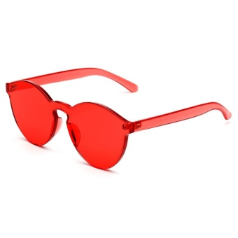 Sunshop Tanpa Bingkai Retro Sunglasses Cat Eye Transparan Warna Candy  Kacamata 294b497b3d