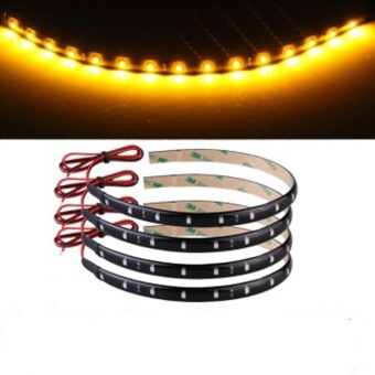 Super Yellow Bright 30CM 3528 LED LEDS Waterproof Flexible Strip Light - intl
