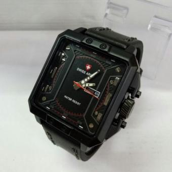 Swiss Army - Body Kotak - Jam tangan Pria - Design Exclusive - Leather strap
