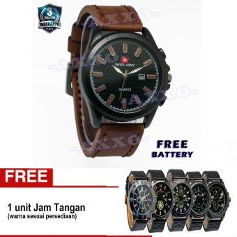 Swiss Army Buy 1 Get 1 Free SA 0071 - Jam Tangan Pria - Strap Kulit