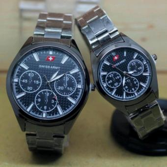 Swiss Army - Jam Tangan Couple - Stainles Stell- SA 4322 A
