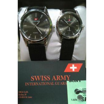 Swiss Army - Jam Tangan Couple - Strap Kanvas-SA 5025 terbaru free batere
