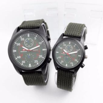 Swiss Army Jam tangan couple tali canvas 2017