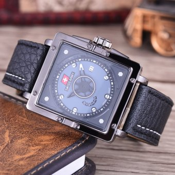 Review of Swiss Army Jam Tangan Pria - Body Black - Black Dial - Black Leather