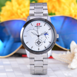 Detail Gambar Swiss Army - Jam Tangan Pria - Body Silver - White Dial - Stainless steel band - SA-5063-G-TGL-SW Terkini