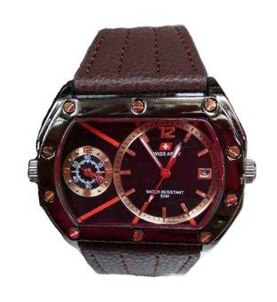 Swiss Army - Jam Tangan Pria - Leather Strap - Sa 4065 - Hitam-Cokelat