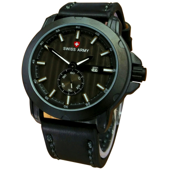 Swiss Army Jam Tangan Pria - Leather Strap - SA 8810JB - Putih ...