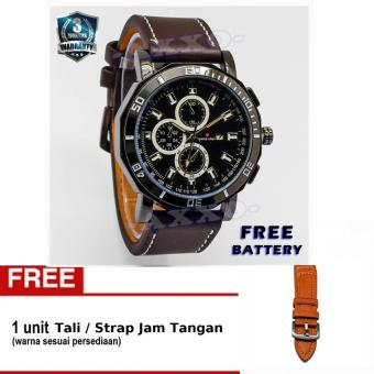 Swiss Army - Jam Tangan Pria - Strap Kulit - Coklat Tua - SA 9100-6 L (Free Tali Jam) ...