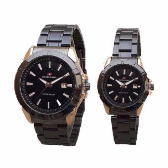 Swiss Army SA 1501 Jam Tangan Couple - Black Gold