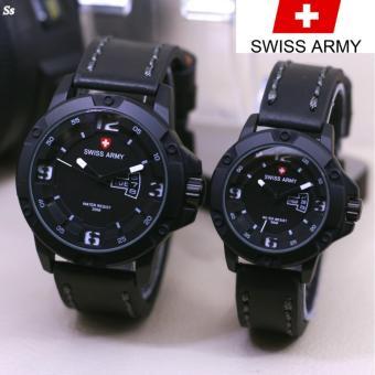 Swiss Army SA3113 OBOS - Jam Tangan Couple Tali kulit