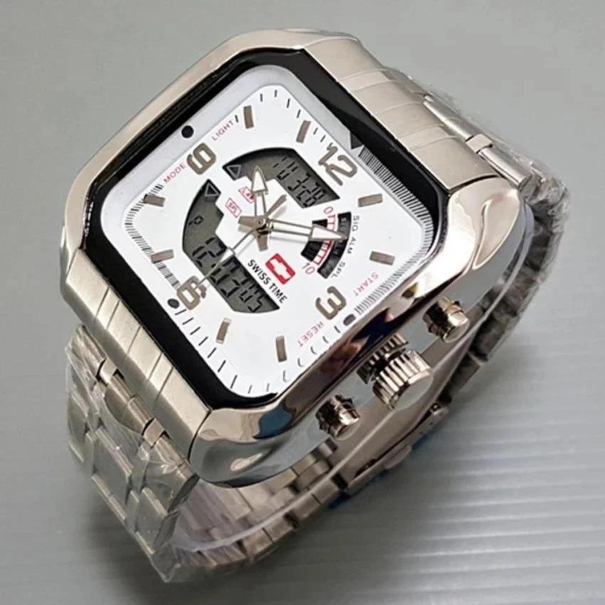 Best Price Swiss time /Army - FASHION - Indigo Dual Time - Jam Tangan Pria