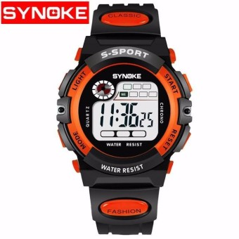 Synoke LED Digital Anak Watch Kids Watches Girls Boys Jam Anak SPORT Wrist Watch Digital Watch-Intl