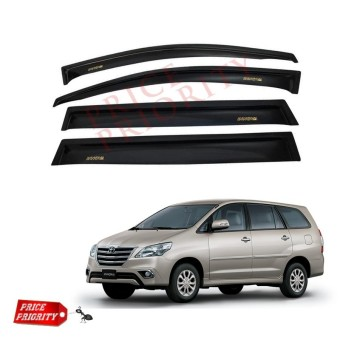 Talang Air Mobil Innova / Car Side Visor Innova Acrylic Premium - Model Slim + 3M